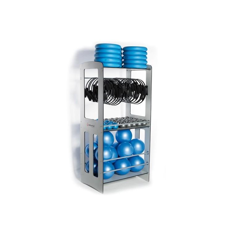 Rack de rangement pour matériel de pilates
