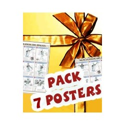 Pack 7 posters musculation