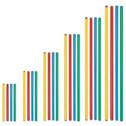 Lot de 10 bâtons de couleur