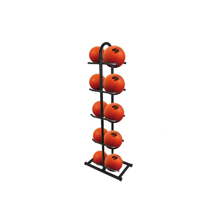 Rack de rangement + 10 medecine balls