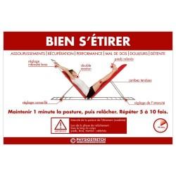 Poster plastifié « Bien s'étirer »