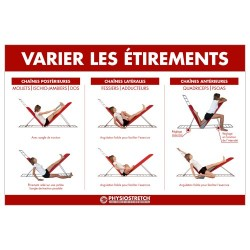 Poster plastifié «varier les étirements »