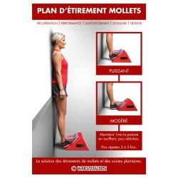Poster plastifié « plan d'étirement mollets »