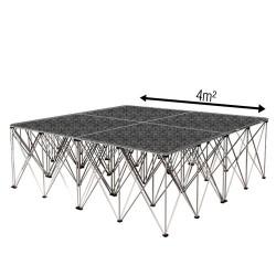 Podium de danse - 4m² - «Industriel»