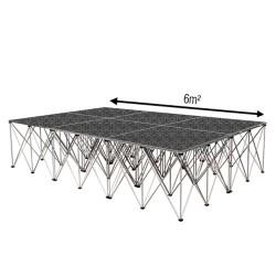 Podium de danse - 6m² - «Industriel»