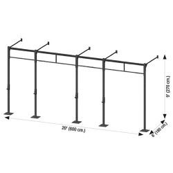 Cross station murale 600 x 180 x 270 cm