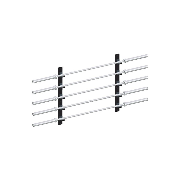 Rack mural pour barres olympiques
