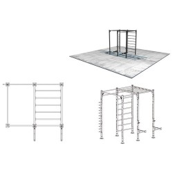 Street workout and power lifting cage