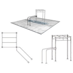 Street workout and calisthenics parallel bars - corner attachment