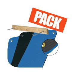 Pack tapis bleu + rack