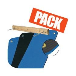 Pack tapis noir et bleu + rack
