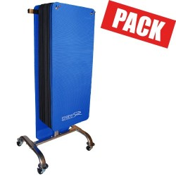 Pack club 30 tapis noirs + rack
