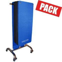 Pack club 30 tapis noirs et bleus + rack