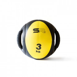 Medecine ball double pognées