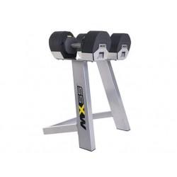 MX55 Haltères 6.8 kg à 24.9 kg + rack