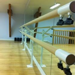 Barre de danse en hêtre massif - 2 m