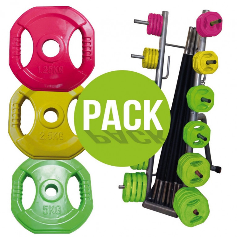 PACK RACK + 10 KITS PUMP COULEUR (20KG)