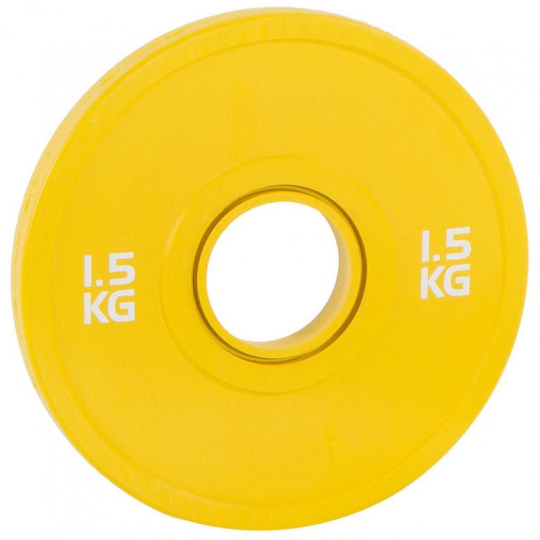 DISQUE BUMPER JAUNE - 1.500 KG