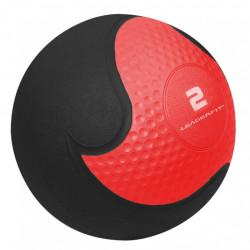 MEDECINE BALL 2KG -  ROUGE ET NOIR