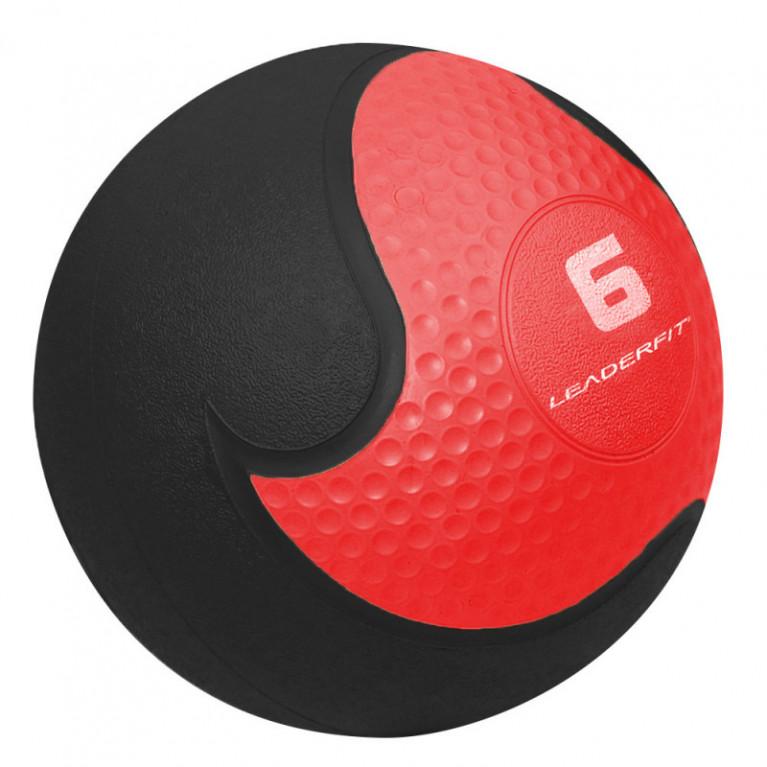 MEDECINE BALL 6 KG -  ROUGE ET NOIR