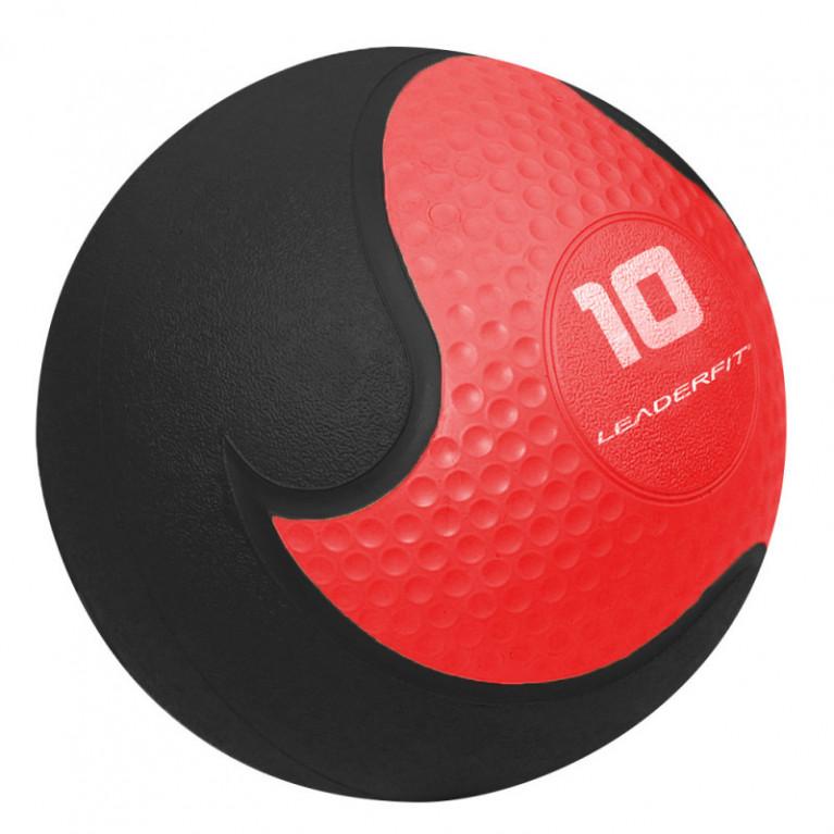 MEDECINE BALL 10 KG - ROUGE ET NOIR