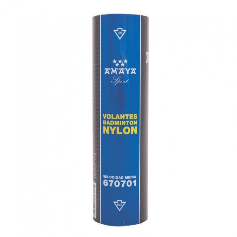 Boite de 6 volants en nylon bleu moyen
