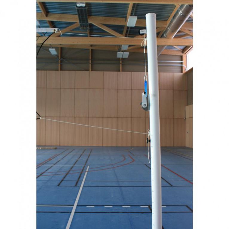 Poteau central de volley pour club