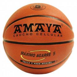 Ballon de basketball caoutchouc orange