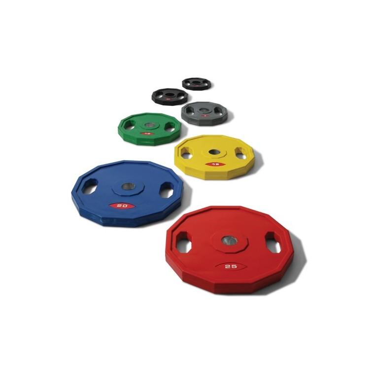 Disque olympique à poignées couleur Ø 51 mm.