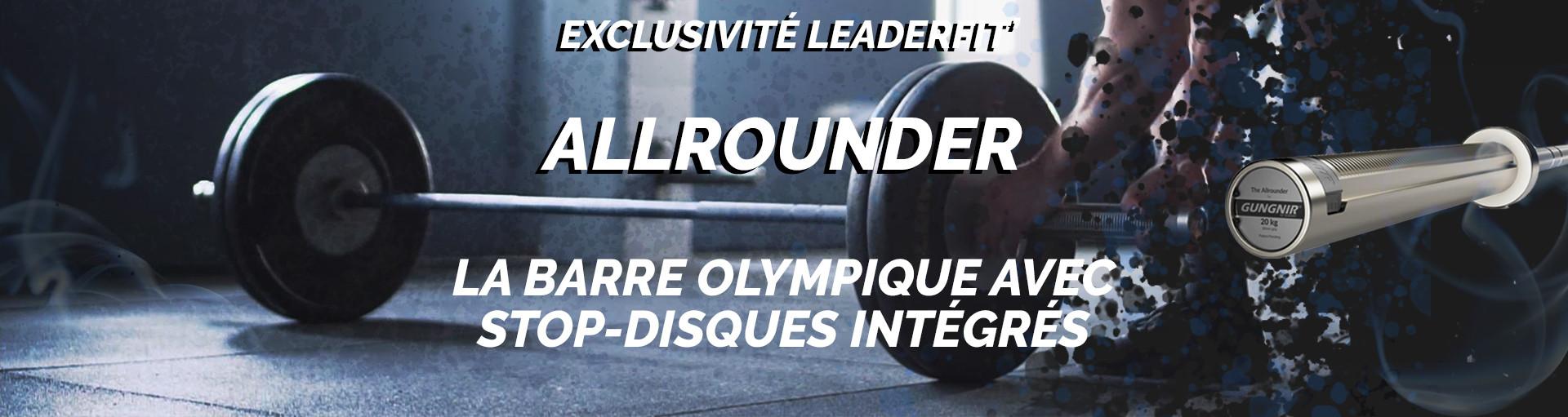 Allrounder - La barre olympique avec stop-disques intégrés